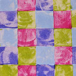 Blocks in Lime, Purple and Pink - 1055
