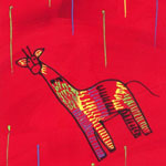 Giraffe on Red - 1148