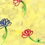 Flowers on Yellow - 1154